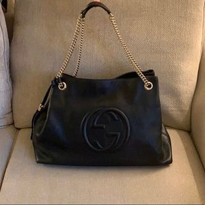 Gucci Tote with Gold Chain Hardware